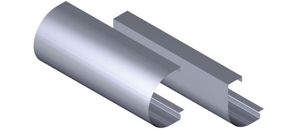 Aluminium Fascia - Bullnose