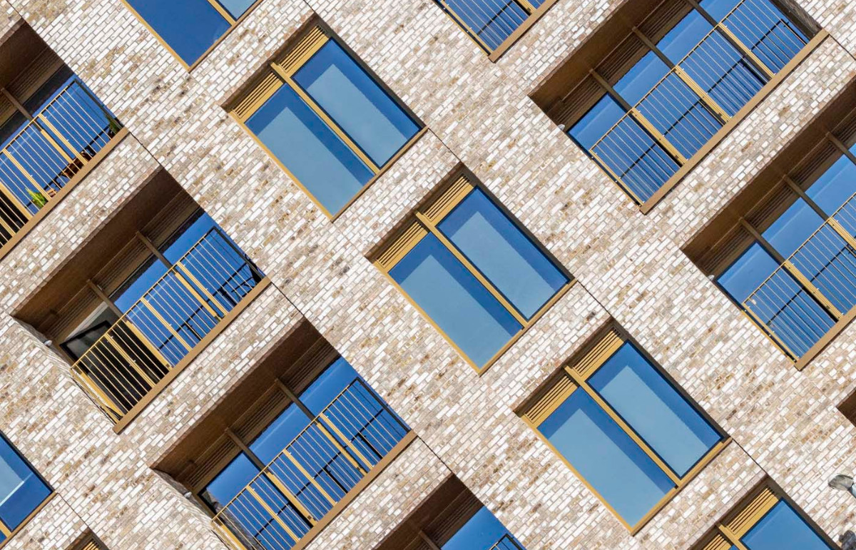 Manchester Flats Use Non-combustible Soffit Cladding