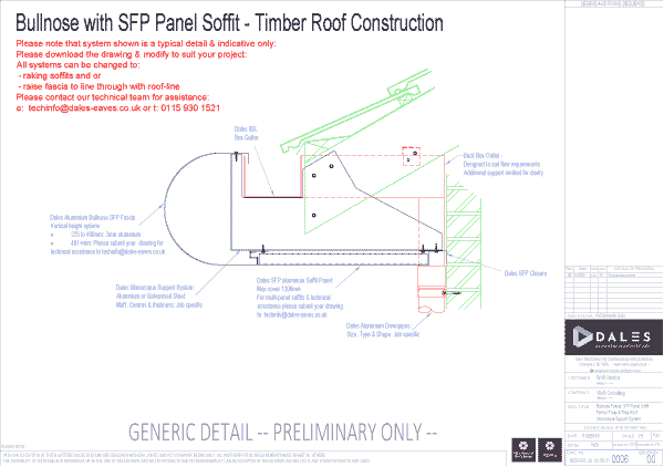 Bullnose fascia with SFP soffit