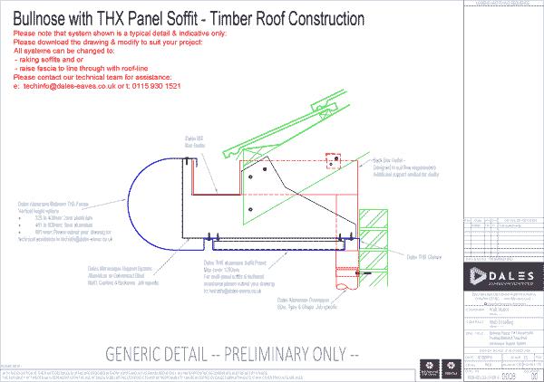 THX Panel Bullnose fascia/soffit