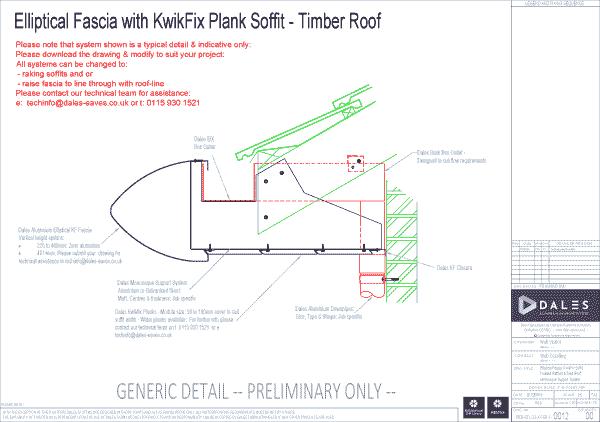 Elliptical fascia with Kwikfix soffit