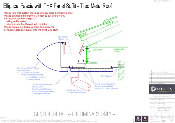 Elliptical fascia with THX panel soffit