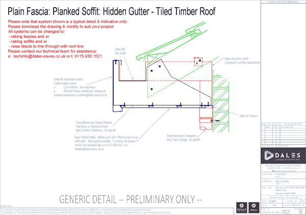 Hidden gutter with plain fascia and Kwikfix soffit