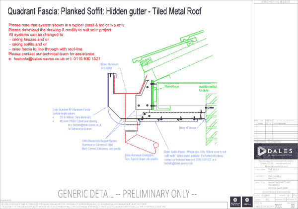 Quadrant fascia with Kwikfix soffit