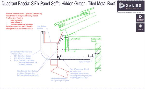 Quadrant fascia with THX panel soffit