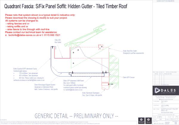 Quadrant fascia with secret fix soffit