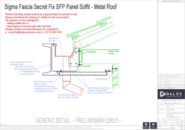 Sigma fascia with secret fix panel soffit