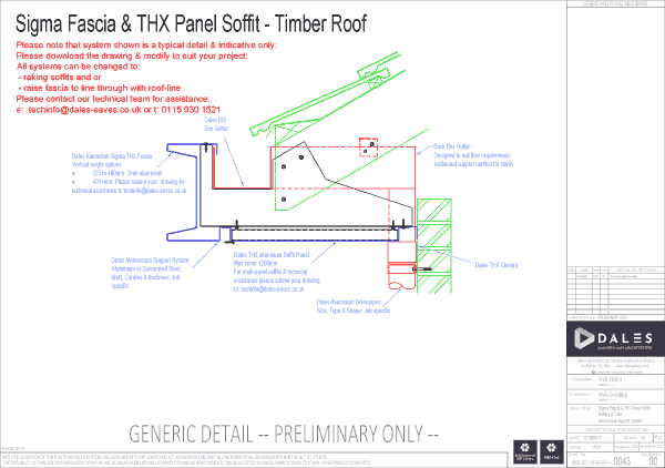 Sigma fascia with THX panel soffit