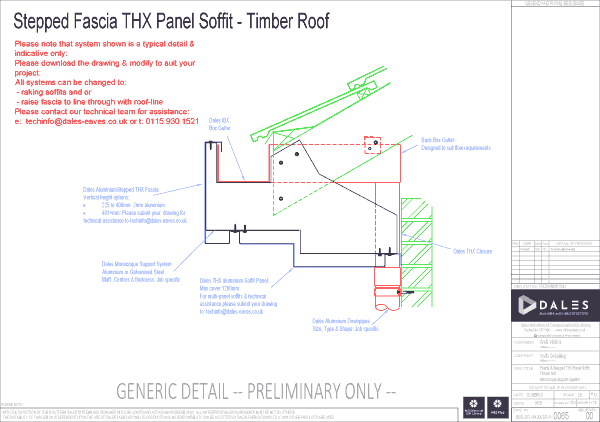 Stepped fascia with THX panel soffit