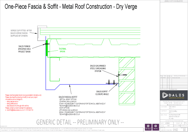 Dry verge one piece fascia and soffit
