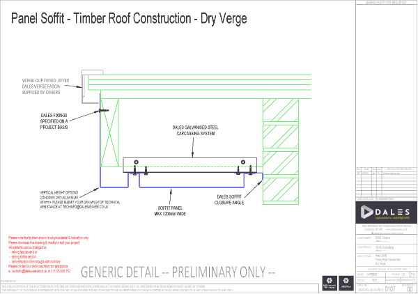 Dry Verge with panel soffit