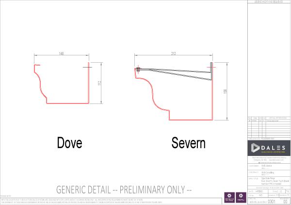 Dove/Severn Ogee Gutter Model