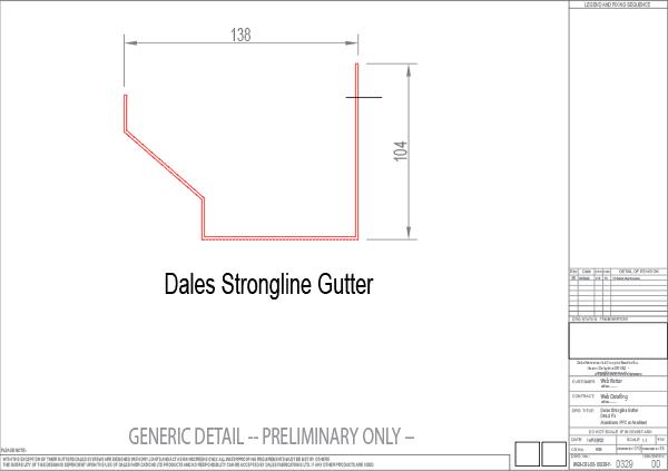 Strongline gutter