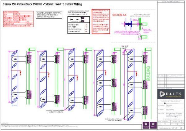 0418 Brise Soleil Vertical Stack Angle Blades 1100mm - 1500mm