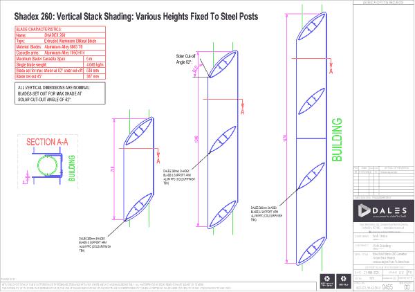 Bise Soleil Vertical Stack Angle Blades