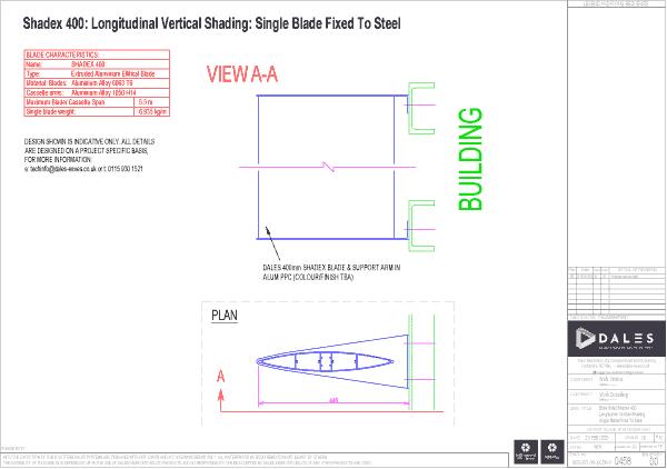 Vertical longitudal single blade
