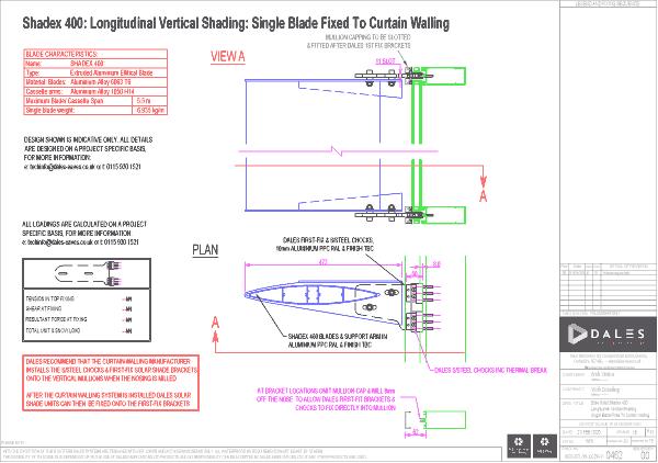 Vertical Longitudinal Single Blade